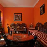 Interior Design For Brown And Orange Decor Of For Living Room