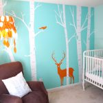 Kids Room Wallpaper Ideas Of Diy Decor With Jungle In Blue Background