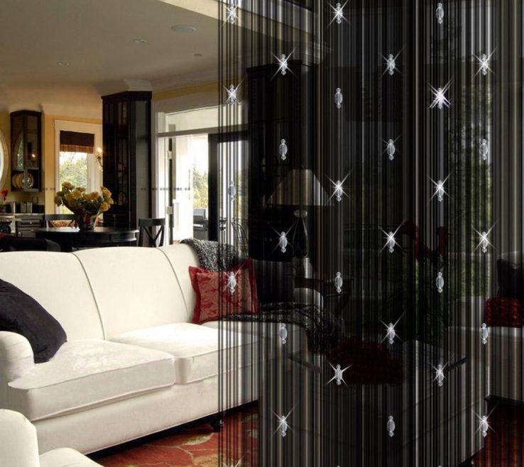 Likeable Decorative Room Divider Of Curtains