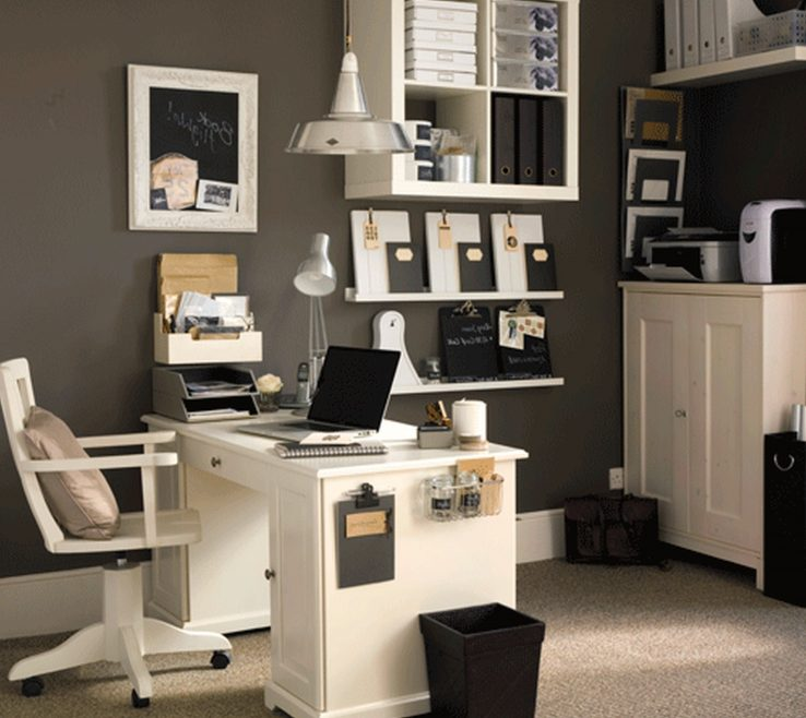 Magnificent Black And White Office Decorating Ideas Of Furnituredesk Workspace Cute Cubicle Work Also