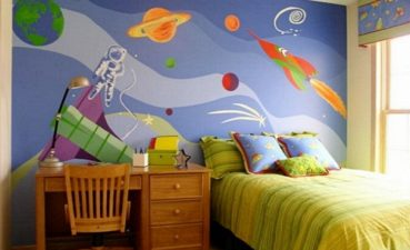 Magnificent Kids Room Wallpaper Ideas Of Cosmic By X