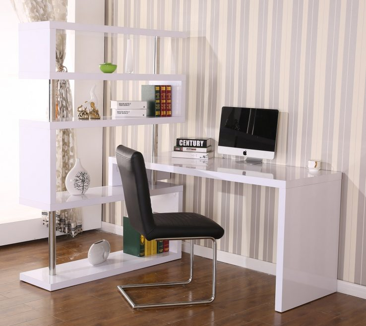 Magnificent Office Corner Shelf Of Rotating Home Desk And Bo