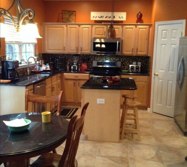 Orange And Yellow Kitchen Ideas Of Brown Decor Home Interior Design Walls Burnt