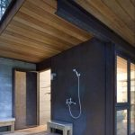 Outdoor Shower Cabin Of By Olson Kundig Architects