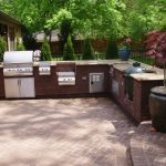 Outside Flooring Ideas Of Outdoor Kitchen Grill Stations Islands Designs Outdoor