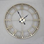 Picturesque Funky Grandfather Clock Of Antique Style Gold Metal Wall