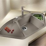 Picturesque Odd Shaped Kitchen Sinks Posite Inspirational Granite Blanco Silgranit Metallic Gray