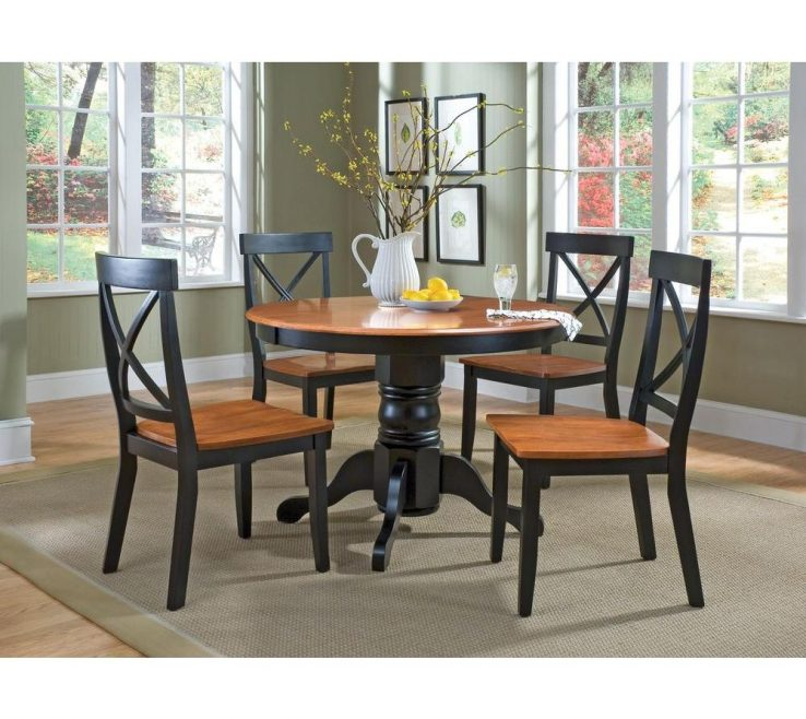Small Modern Kitchen Table And Chairs Of Home Styles Piece Black Oak Dining Set