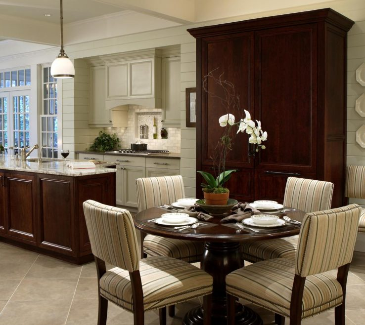 Superbealing Table Designs Of Elegant Kitchen With Breakfast Area