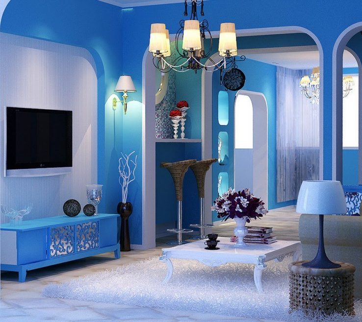 Terrific Blue Room Ideas Of Decorate A Living