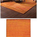 Terrific Brown And Orange Decor Of A Beautiful Burnt Rug Creates A Striking