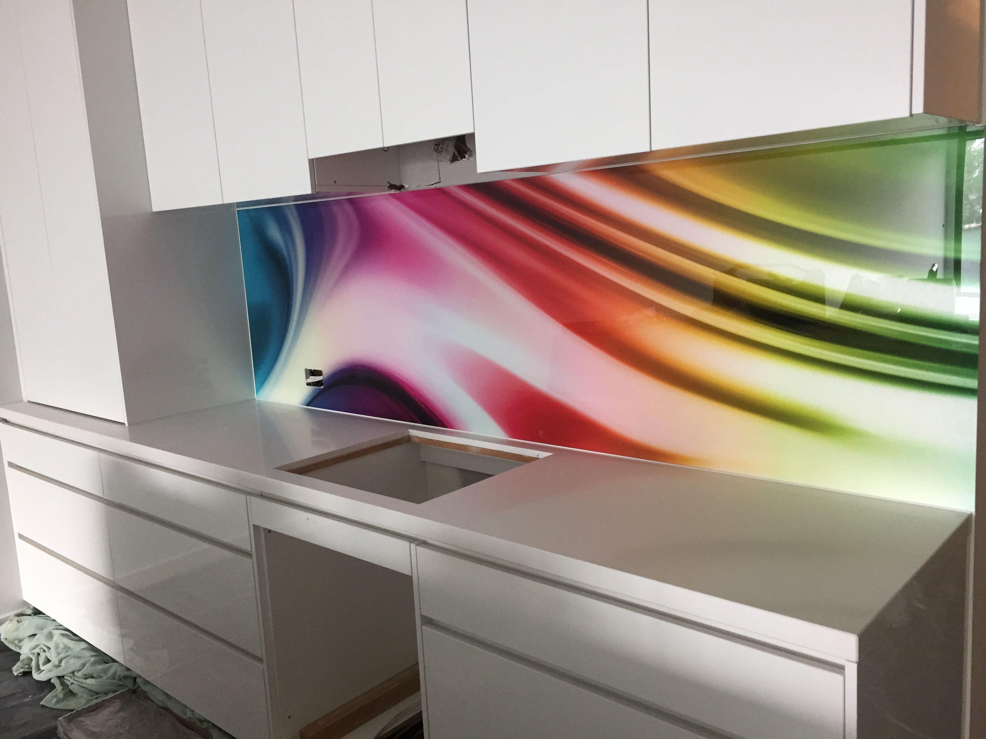 Custom kitchen splashbacks 6 line retractable clothesline