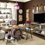 Vanity Hide Tv On Wall Of A Dark Color Distracts From A Large