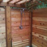 Vanity Outdoor Shower Cabin Of With Horizontal Cedar