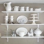 Wall Mounted Kitchen Shelf Of Exquisite Decoration Wood Shelves Floating White Wooden