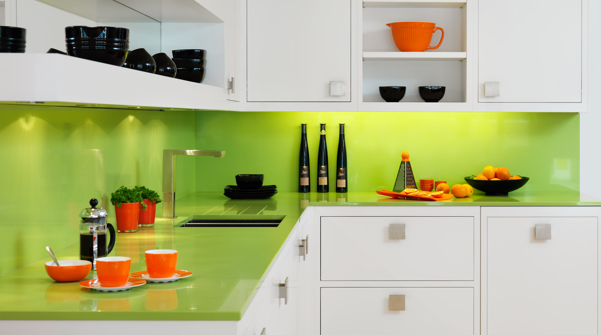 Lime Green Kitchen Walls Acnn Decor