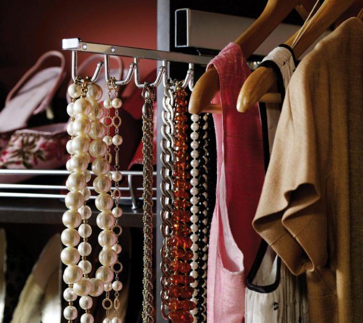 Wonderful Master Bedroom Closet Design Ideas Of Chic With Tie Rack