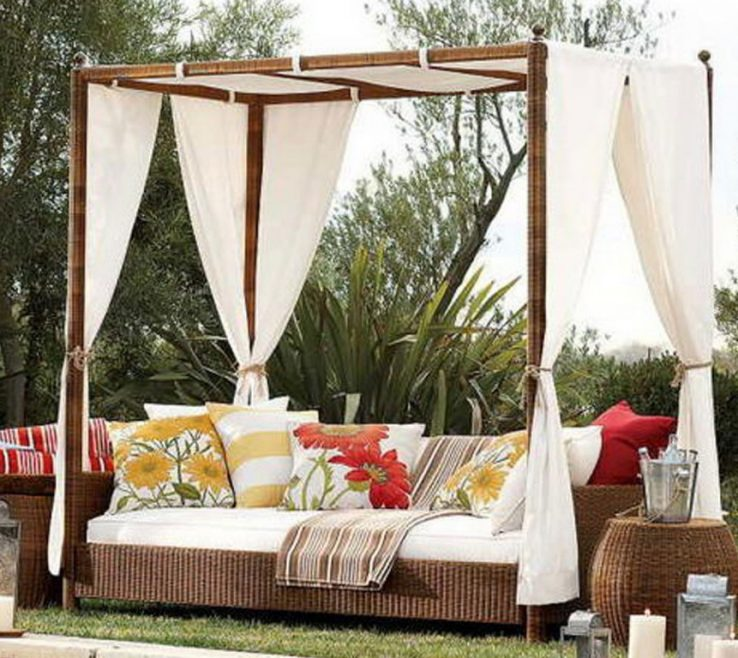 Wonderful Outdoor Canopy Diy Of Image Of Bed