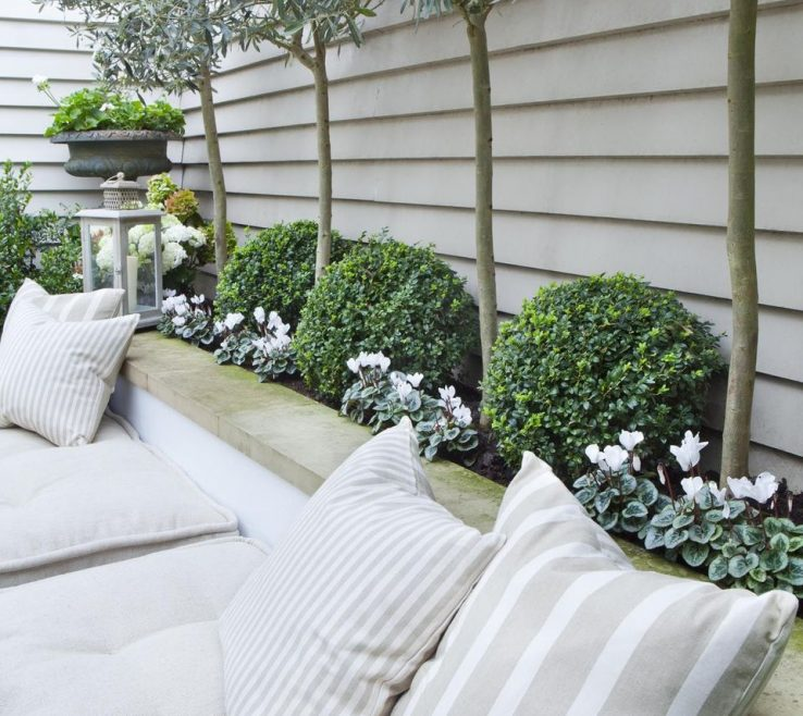 Wonderful Small Seating Area Of Courtyard Garden With Design And Layout