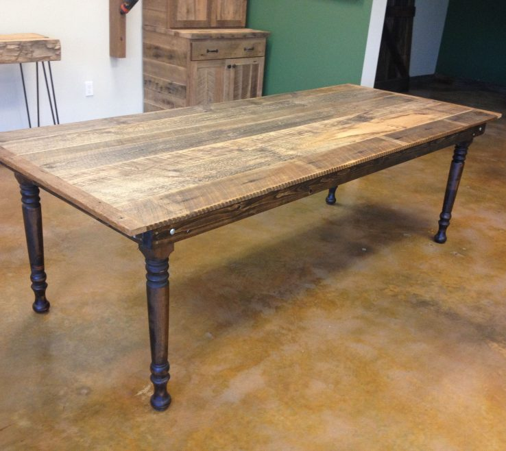 Wooden Table With Folding Legs Of Reclaimed Pine Farm W For Easy Storage