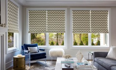 Photo Of Colored Accents In Your Home With Striped Roman Shades
