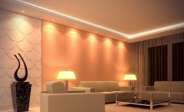 Photo Of A Room In Style With Lighting