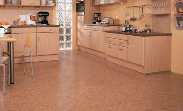 Photo Of Color Kitchen Floor With Cork For Decoration